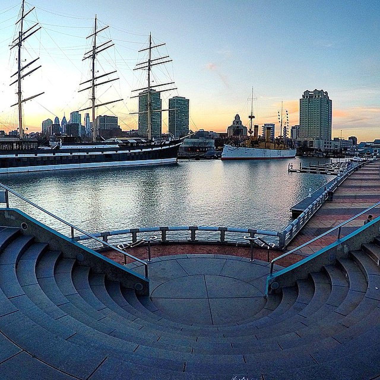 Philly Penn Ship Sunset Gopro Goprouniverse Downbytheriver