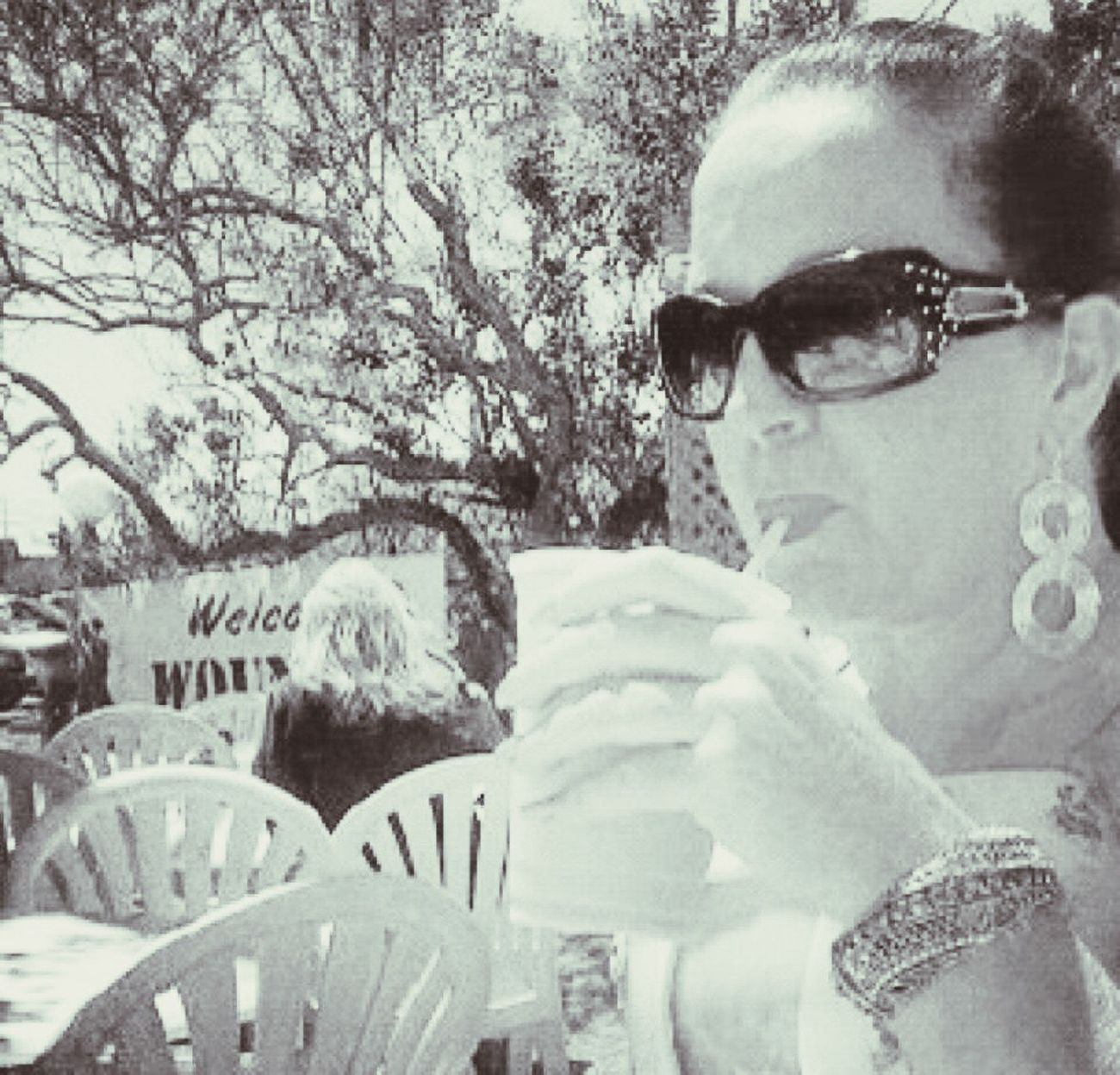 Blackandwhite Photography IPhoneography Black & White Cocktails Summertime Portrait Of A Woman Enjoy Life Monochrome Woundedwarriorproject