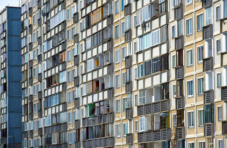 Panel houses. Riga city. Latvia Exterior Houses Latvia Panel Architecture Building Exterior Buildings Built Structure City Day Dwellings Europe Facades Flat Full Frame Highrise Highrisebuilding House Northern Europe Outdoors Panel Houses Riga Soviet Architecture Urban Urban Skyline