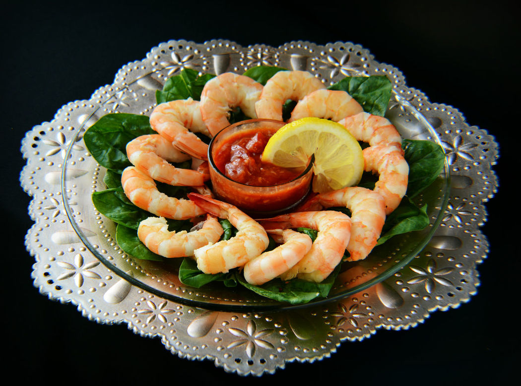 Appetizer Arrangement Black Background Close-up Dish Food Food And Drink Freshness Indulgence Plate Ready-to-eat Repetition Seafood SEAFOOD🐡 Serving Size SHELLFISH  Shellfish🐚 Shrimp Shrimp Cocktail Shrimp!