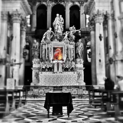 black madonna at Basilica di Santa Maria della Salute by Lorenzo Bettio