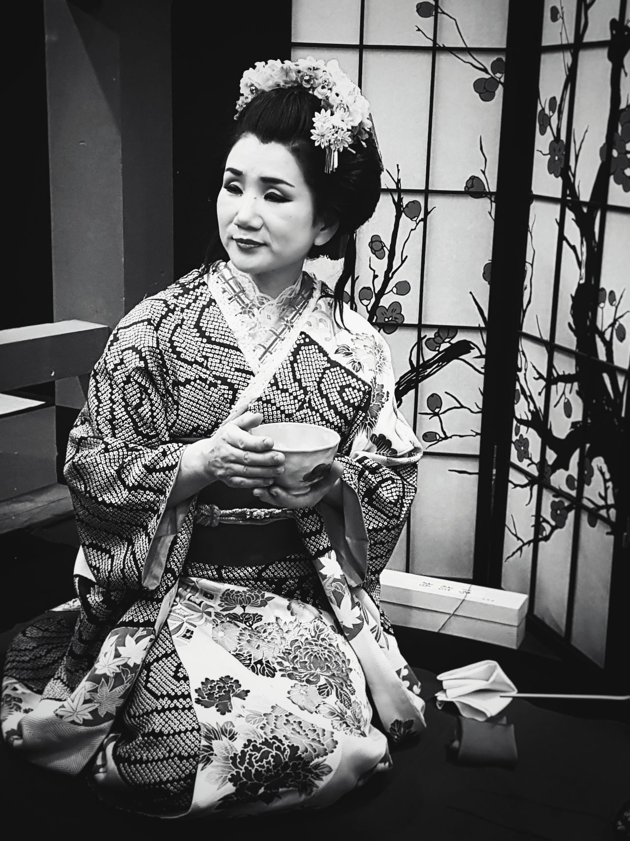 Japanese Culture Japan Photography Japanese Traditional Japan Japanese Style Japanese  Traditional Culture Traditional Clothing Tradition Ceremony Of Tea Women Who Inspire You Woman Portrait Woman Power BW Collection Black And White Portrait Black & White Blackandwhite Photography Geisha Blackandwhite Lifestyles Old-fashioned Portrait Week On Eyeem EyeEm New Here Women Around The World