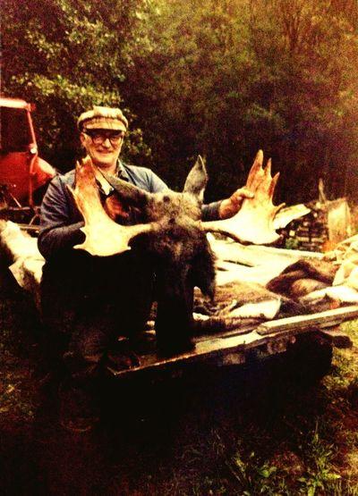 1977 Grandfather Hunting Moose Sweden Lillström Oldtime