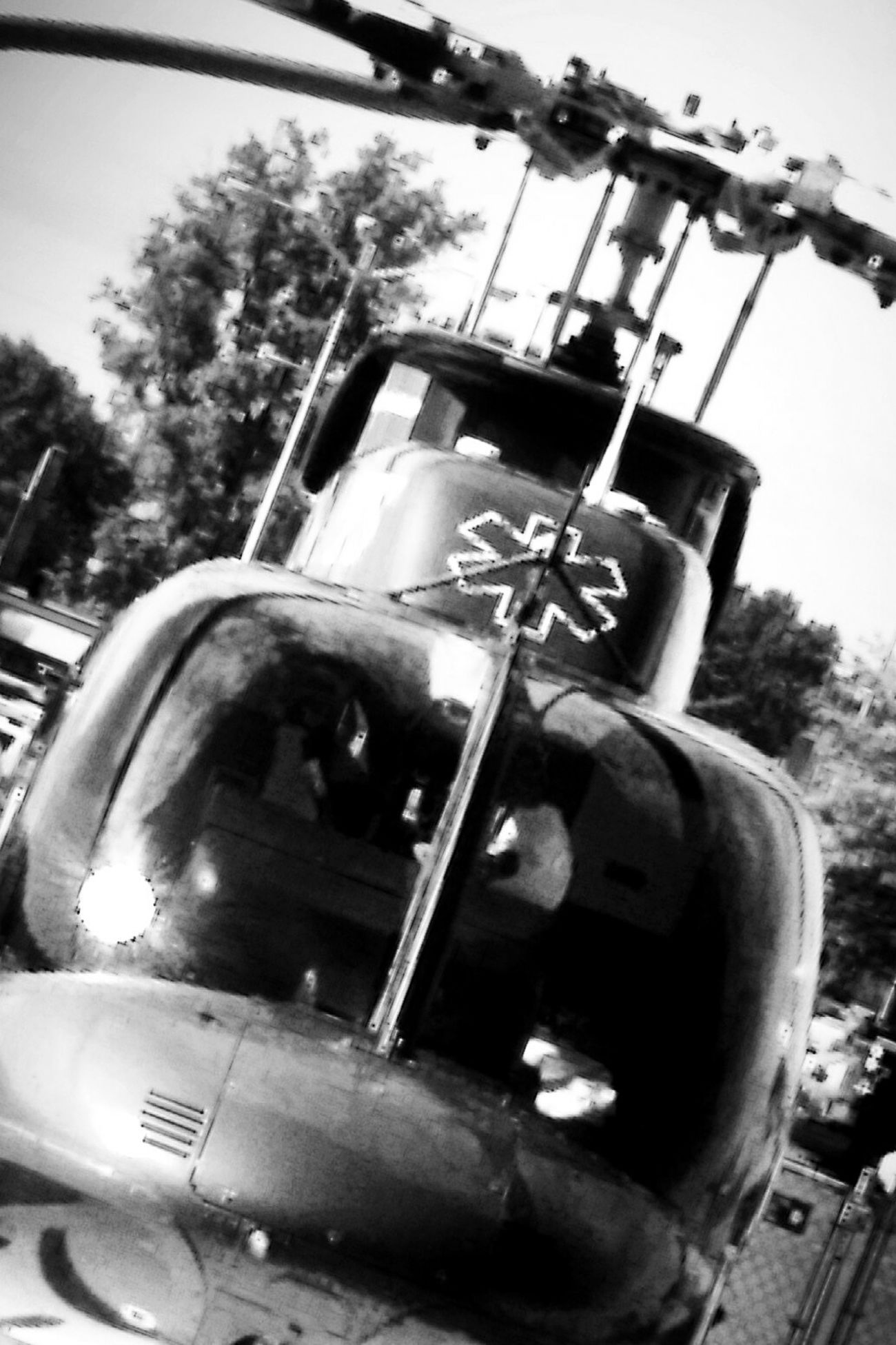 Lifeflight Helicopter Black And White