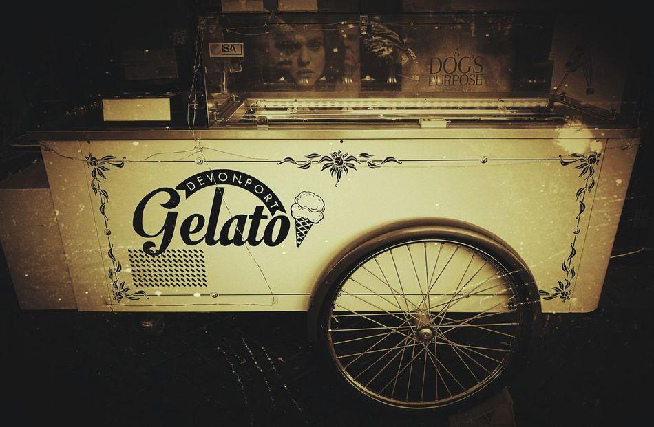 Old school gelato cart No People Close-up Outdoors Gelato Cart Wheel Spokes
