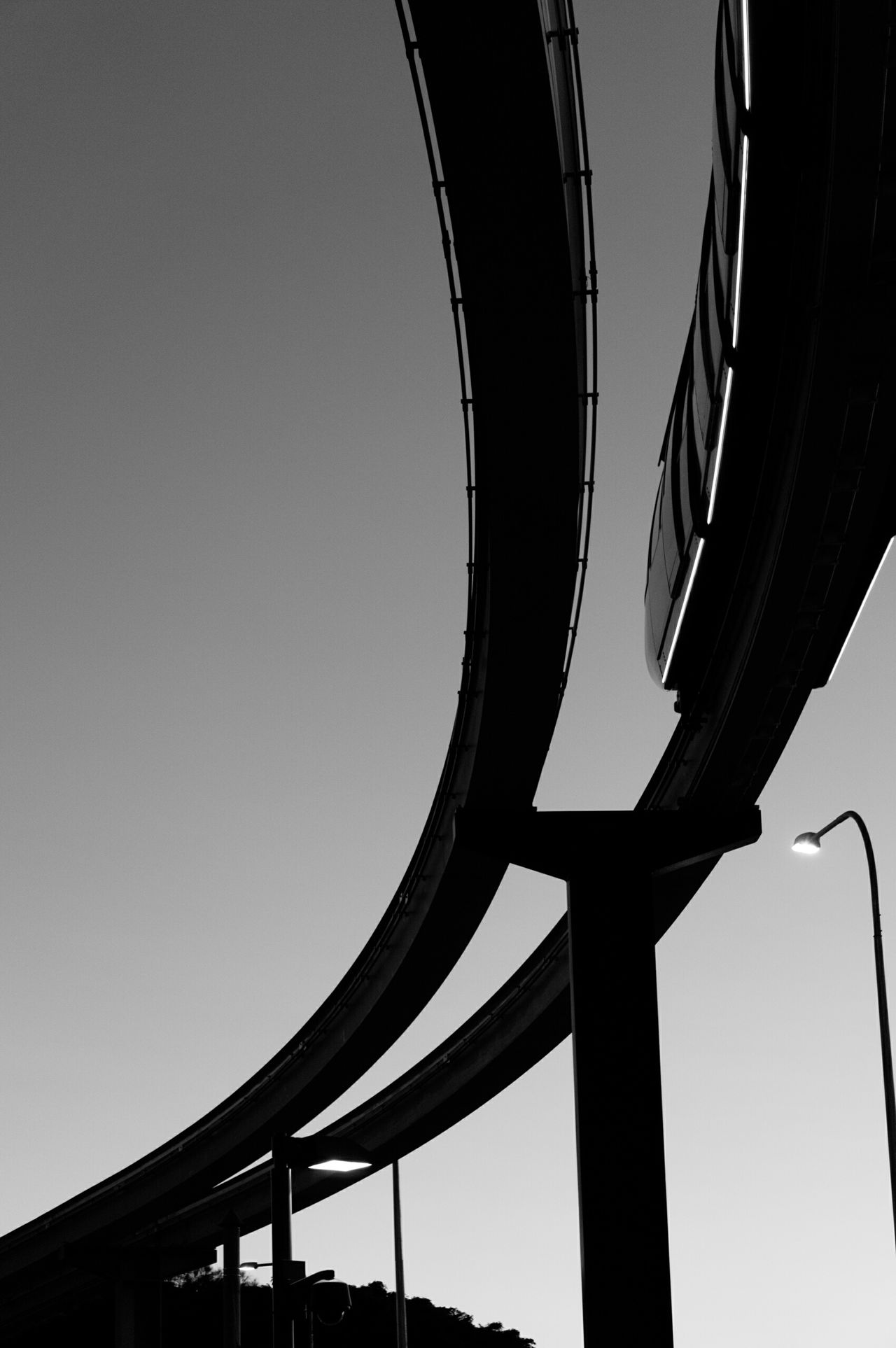 Monorail  Monochrome Blackandwhite Streetphoto_bw Urban Geometry Urban Landscape Silhouette Sunset_collection Architecture_bw The Architect - 2015 EyeEm Awards