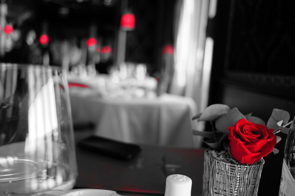 Rose in black Monochrome Roses Wedding Focus On Foreground Close-up No People Flower Indoors  Wedding Ceremony Life Events Freshness Day Danieli Venezia Venice Italy