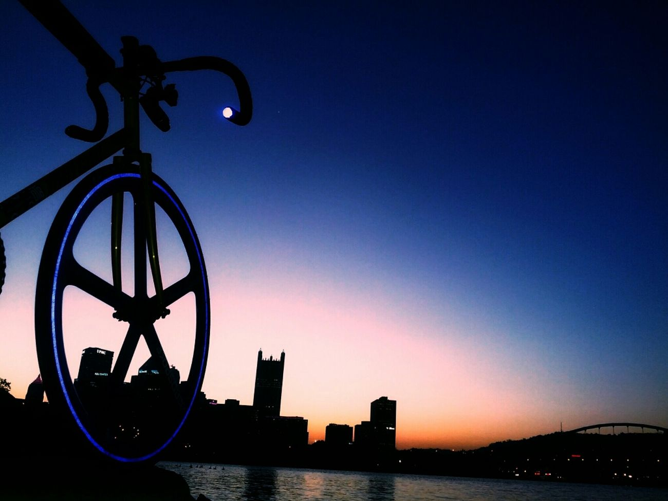 They came for your novels. Not what's written down in pages bare, but the thoughts behind your vacant stare. So I took flight. Not by wing or engine spinning round but by wheels upon the hardened ground. To the ascending towers. Under a sky once dark and City Sunrise Fixed Gear Pittsburgh Skyporn Fixie Mercier Aerospoke Dropbars Kilo Tt Fiks
