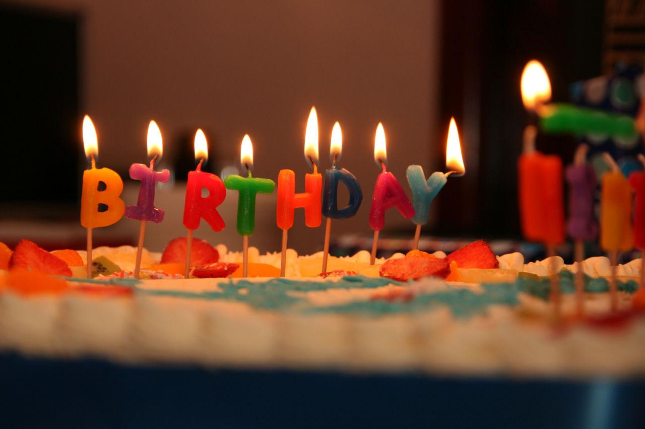 Birthday Happy Birthday! Cake Celebration Birthday Candles Bon Anniversaire