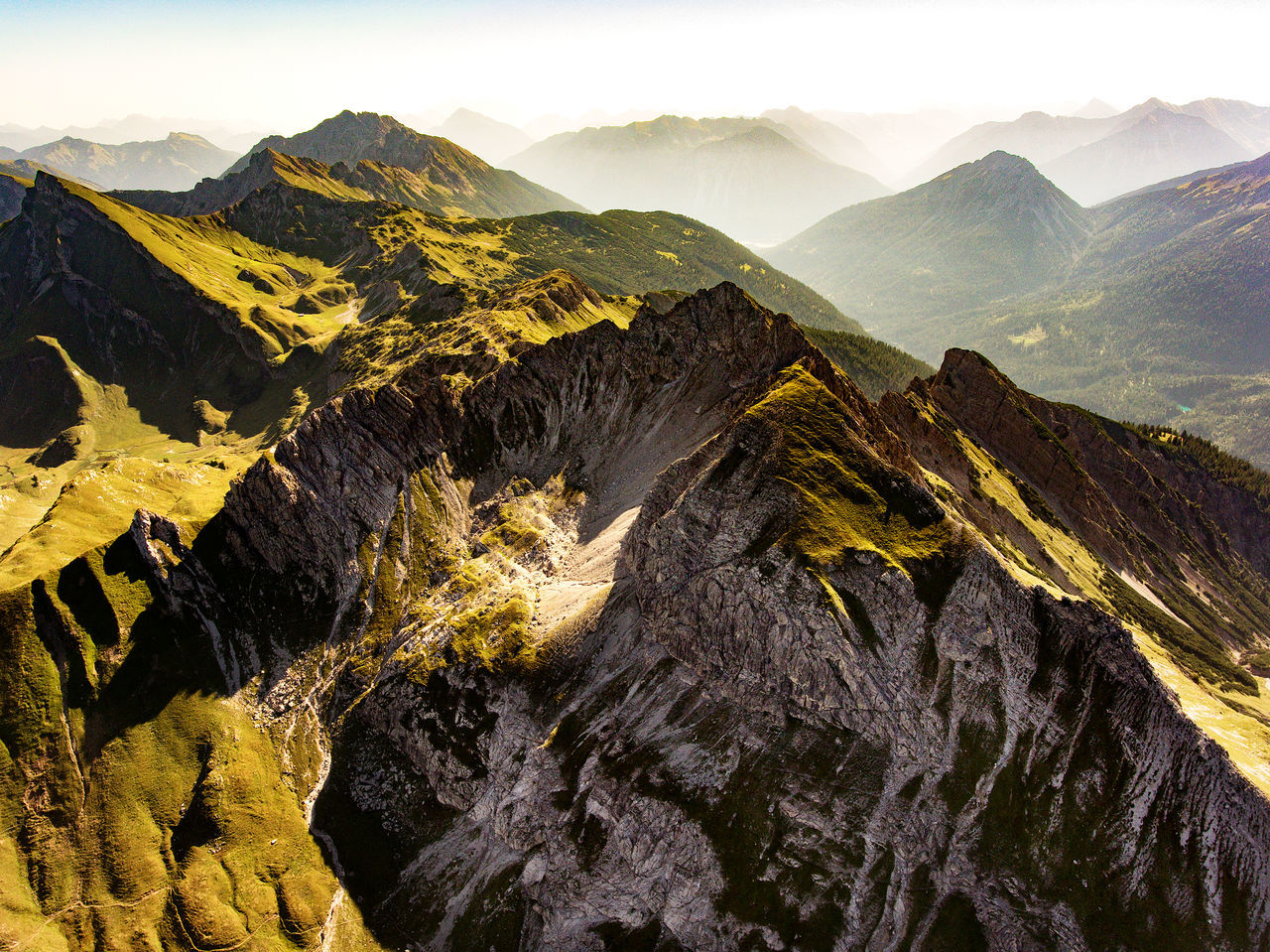 "Mountain range next to the famous ""schrecksee"" in Bayer, Germany. Allgäu Allgäuer Alpen Allgäuer Landschaft Alpes Bayern Bayern Germany Beauty In Nature Bird's Eye View Drone Landscape Dronephotography Droneshot Germany Hiking Landscape Landscape_photography Like A Bird Mountain Mountain Peak Mountain Range Nature No People Outdoors Phantom 4 View View From Above"