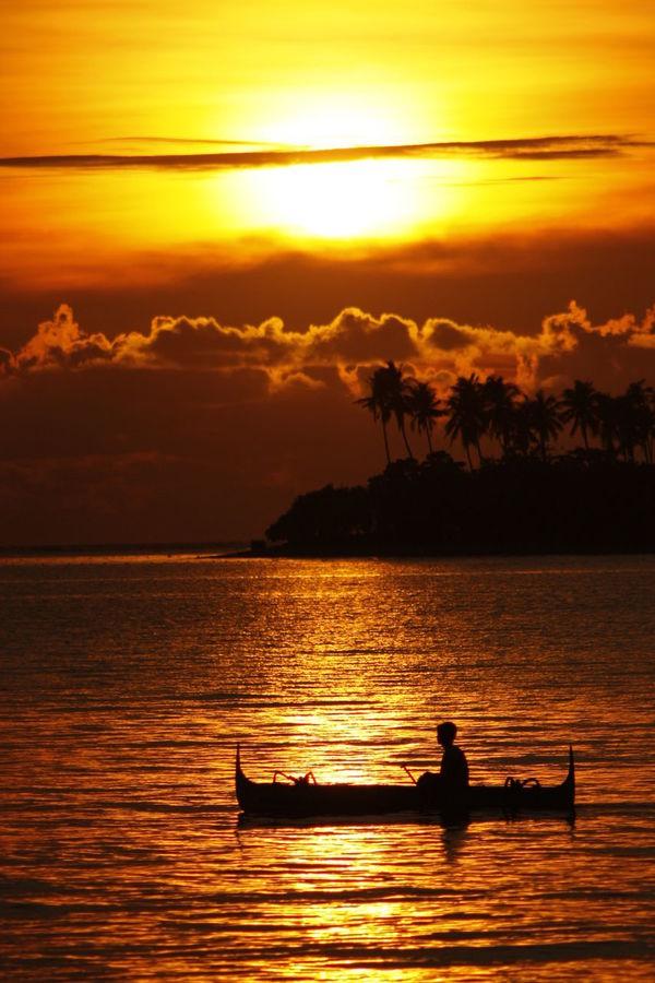 Sunset at Potipot Island in Zambalez, Philippines. Boat EyeEm Best Shots EyeEmNewHere Neighborhood Neighborhood Map Philippines Potipot Sunset
