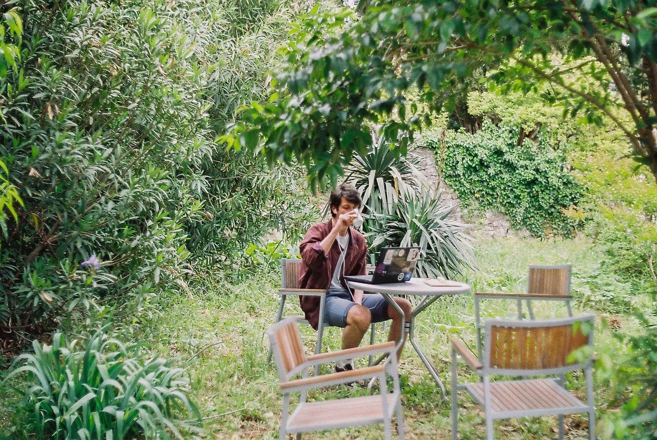 Sitting Day Leisure Activity Casual Clothing Green Color Outdoors Nature Plant Lifestyles Young Adult Coffe Coffee Time Morningcoffee Garden Croatia Dubrovnik, Croatia