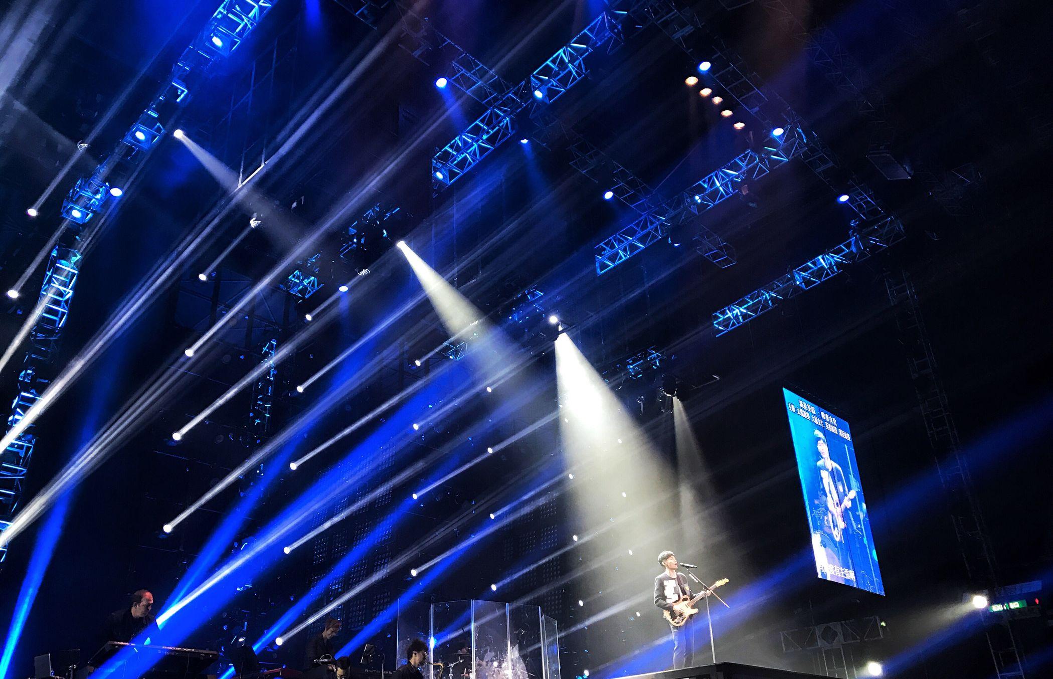 Night No People Illuminated Music Technology Performance Modern Nightlife Sound Mixer Indoor Hong Kong Coliseum