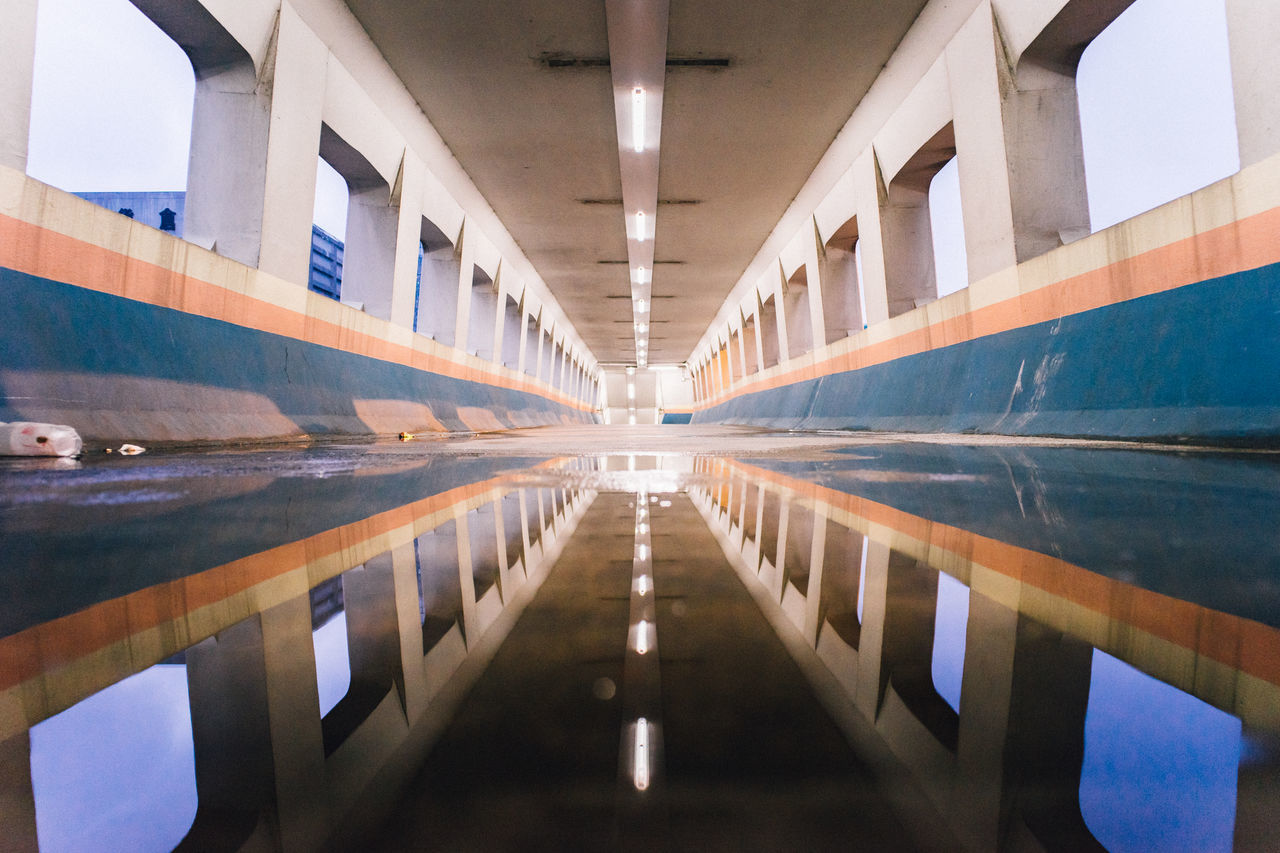Architectural Detail Architecture Architecturelovers Built Structure Hk Hong Kong Illuminated Minimalist Minimalobsession No People One Point Perspective Perspective Point Of View POV Reflection Reflection Reflection_collection Reflections In The Water Water Miles Away