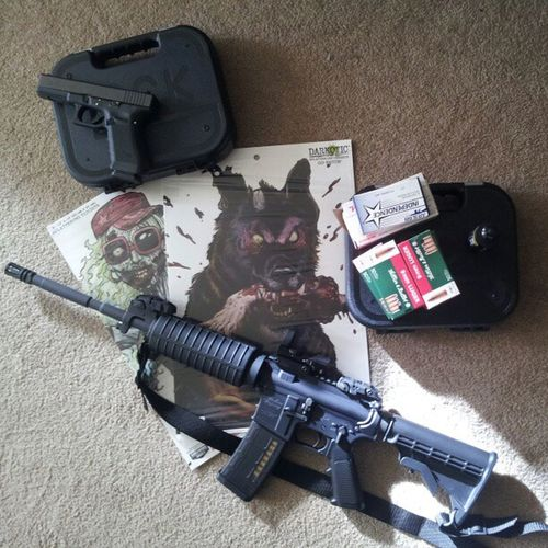 Heading out shooting today!! Ww15 Windham Gen4 Glock19 glock17 2ndamendment