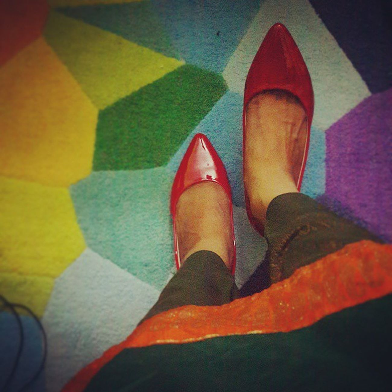 Red and Green Instaclick Instastyle Shoestagram