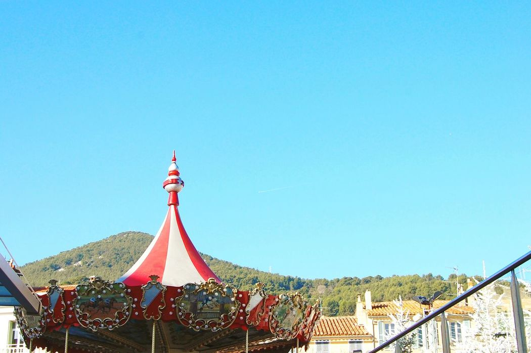 Carroussel Sky Redandwhite Blue Red Clear Sky No People Travel Destinations Outdoors Architecture Day Carrouselparis