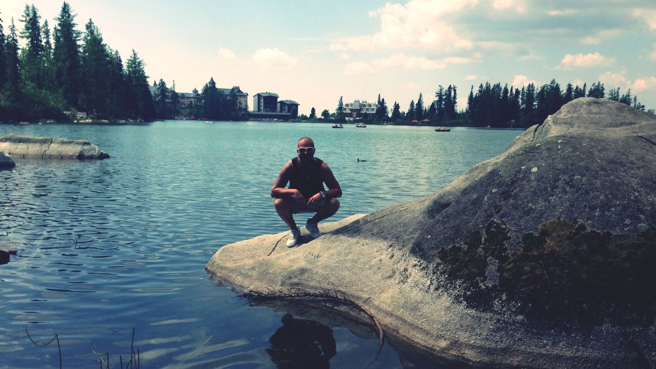 Lake Lake View Photowithiphone5 Followme That's Me Strbske Pleso Summer Summertime Summer2015