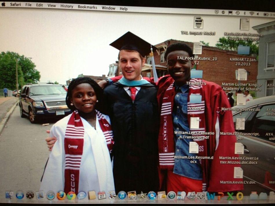 me mr.martin & ambrose on graduation ... loveeee Mr.Martin