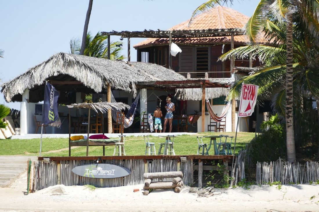 Lifestyles Windsurfing Windsurfschool Brasil Exotic Sun Sand House Architecture Thatched Roof