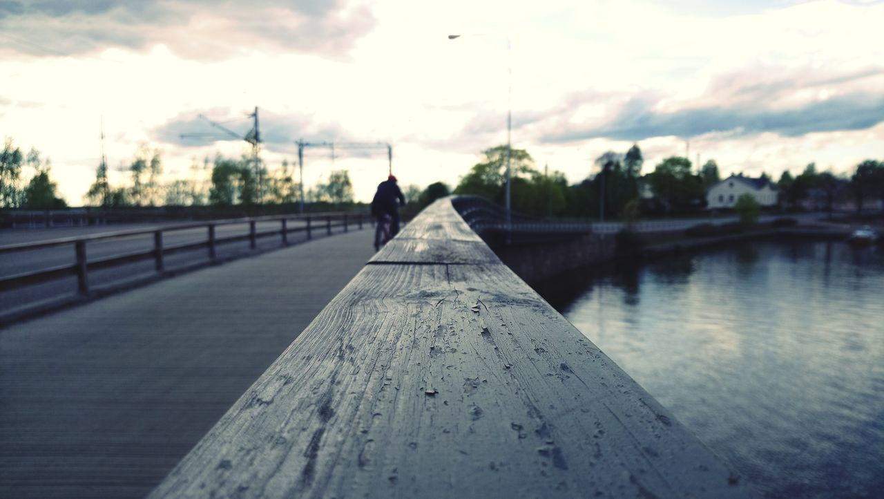 Finland, Kotka. Cloud - Sky Sky Bridge - Man Made Structure One Person People Outdoors Day