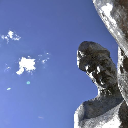 -- MAN AT WORK -- Blue Sky Boulder - Rock Cloud Cloud - Sky Cloud_collection  Day Eye4photography  EyeEm Best Edits EyeEm Best Shots EyeEm Gallery EyeEmBestEdits EyeEmBestPics EyeEmbestshots Low Angle View Man Man At Work Minor Outdoors Photooftheday Rock Rock - Object Sculpture Sky Statue Statue