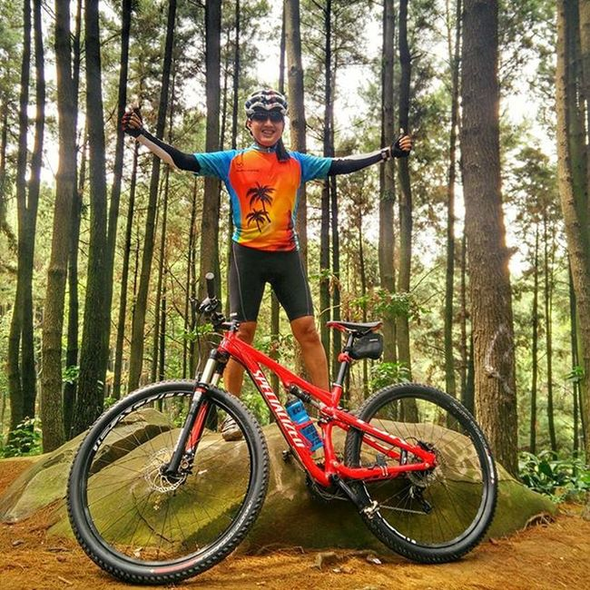 Surrounded by pine trees Funbike AlaKB