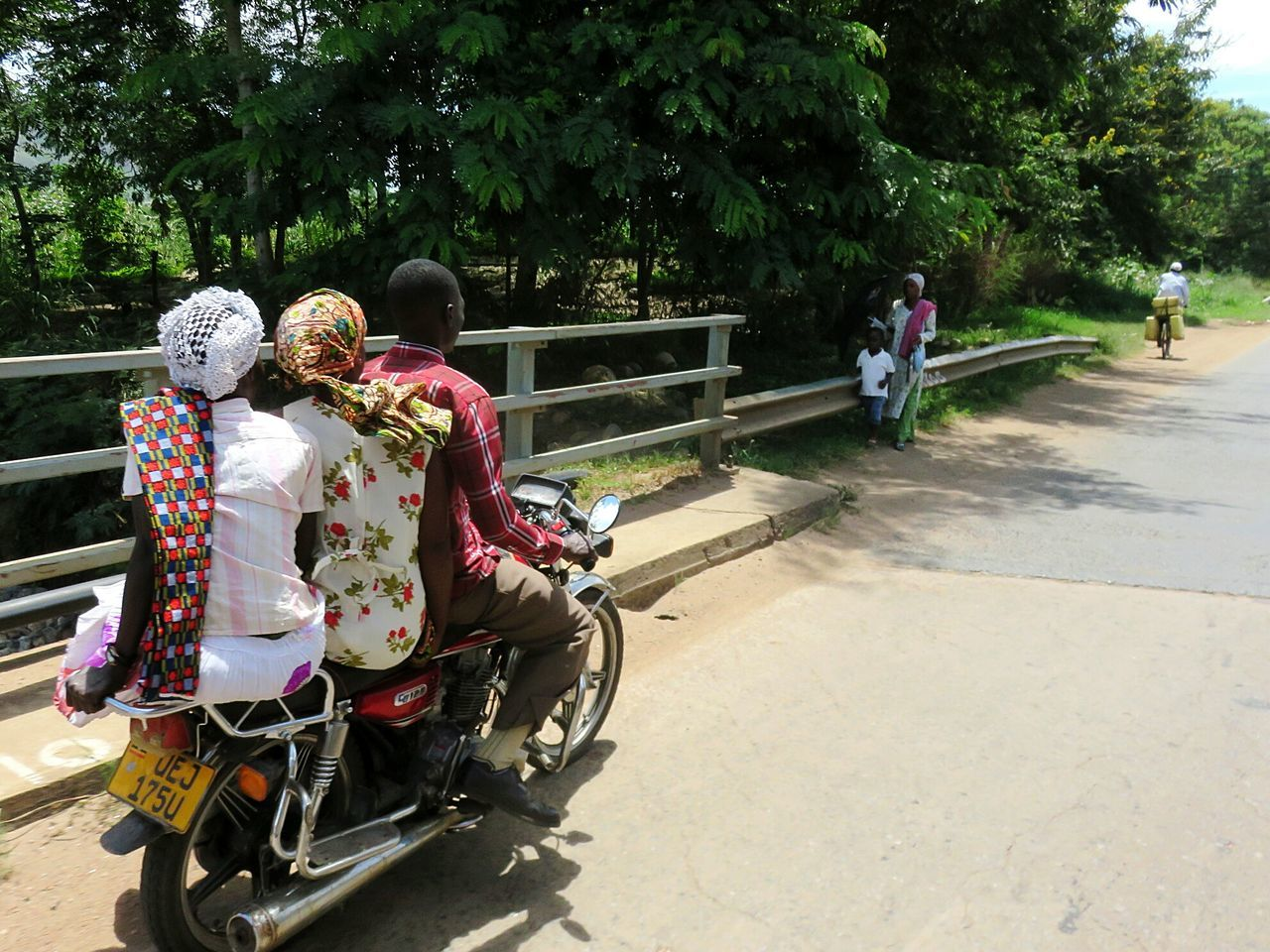 Tree Transportation Motorcycle Mode Of Transport Land Vehicle Day Bicycle Outdoors Women Men Real People Adult People Adults Only Nature Sky Kampala Uganda Let's Go. Together.