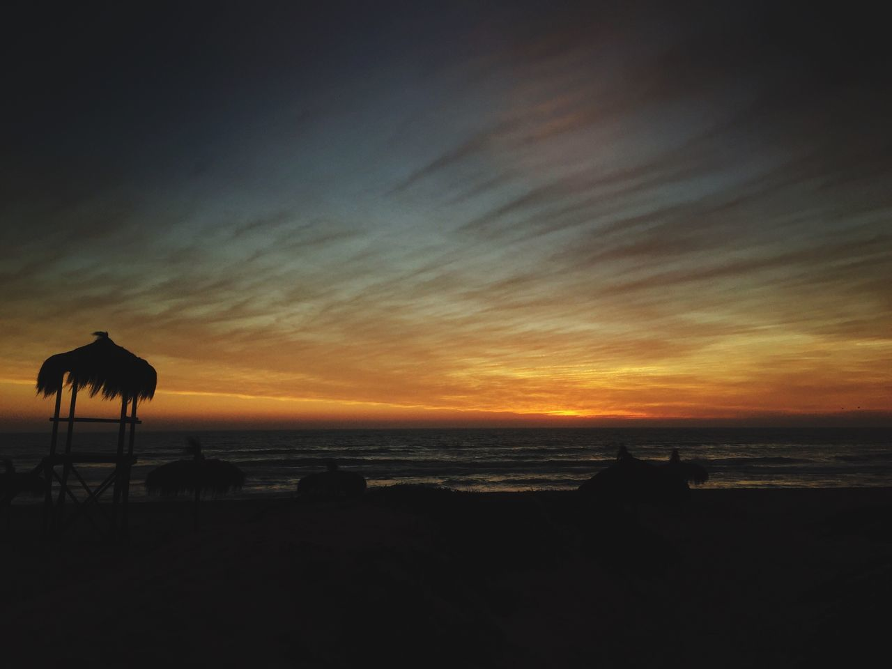 Sunset Silhouette Sky Nature No People Beauty In Nature Sea Scenics Horizon Over Water Outdoors Beach IPhoneography