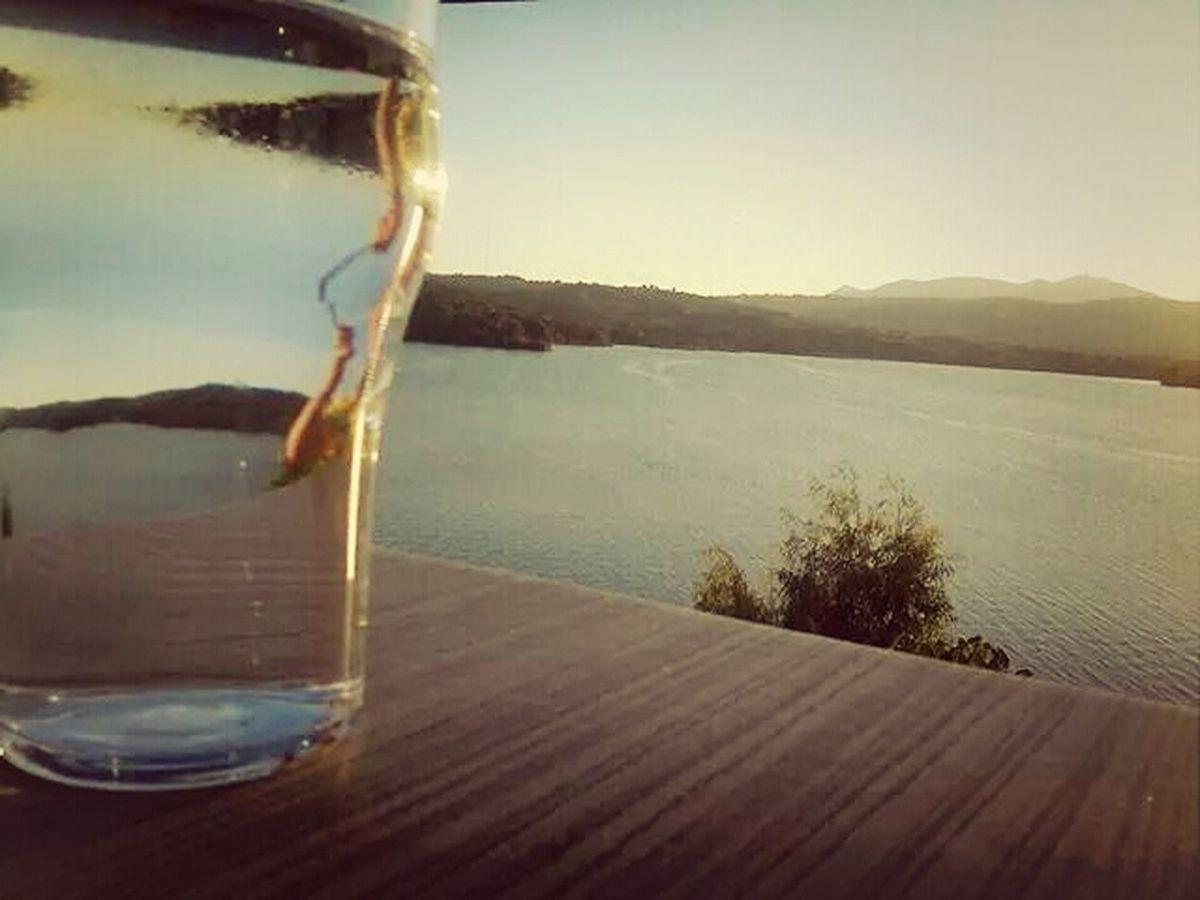 Greece Marathóna Lake View Glass Art