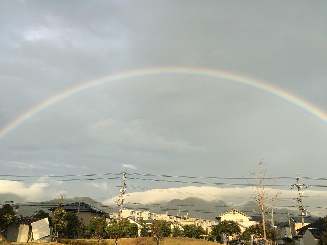 虹が綺麗にでとる。 Rainbow Sky 虹 空