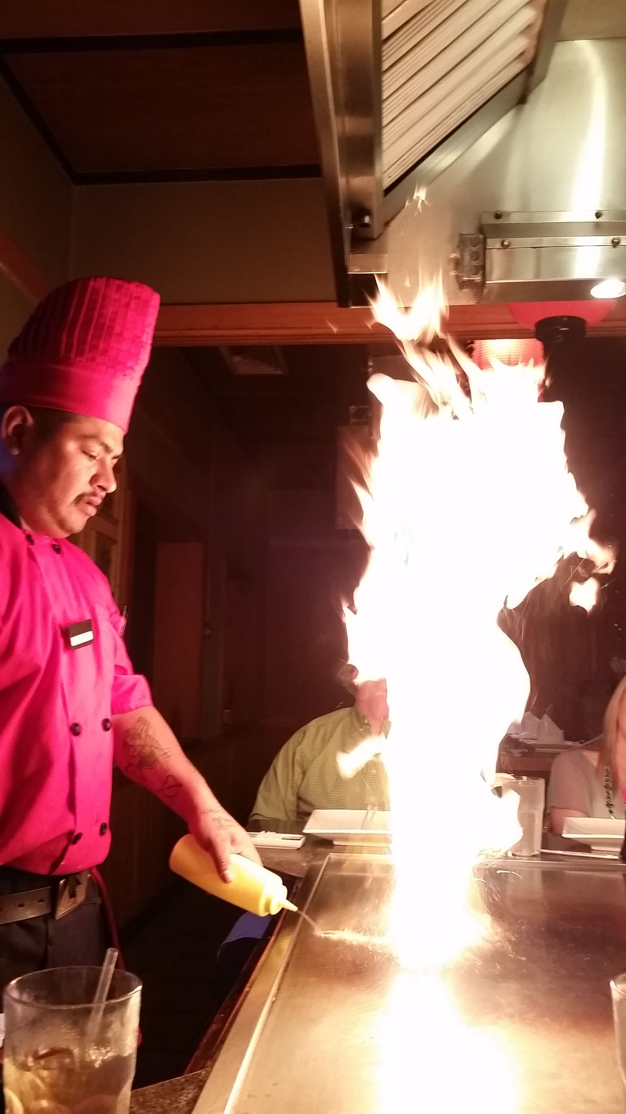 Hibachi Dinner With Family Adults Only One Person Real People Working Heat - Temperature Only Women Standing Indoors  Skill  Adult People Occupation Young Adult Day Foodphotography