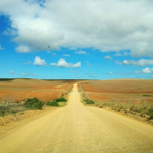 Open road adventure along the dirt roads of Swellendam. Cloud - Sky Landscape Scenics Sky Horizon Over Land Horizon Rural Scene Nature Road The Way Forward Desert Sand Day Sand Dune Outdoors Arid Climate Beauty In Nature No People First Eyeem Photo