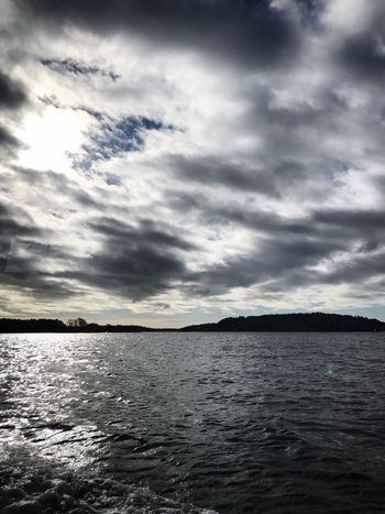 Just outside Stockholm. Water Sky Nature Sea Scenics Beauty In Nature Tranquility Tranquil Scene Cloud - Sky No People Waterfront Outdoors Day