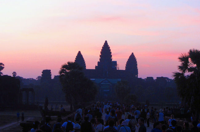 Beautiful sunset at Angkor Wat, Siem Reap. Cambodia Angkor Angkor Thom Angkor Wat Angkorwat Architecture ASIA Asian Culture Building Exterior Built Structure Cambodia Crowd History Large Group Of People Siem Reap Siemreap Sunrise Sunrise Silhouette Sunrise_Collection Sunrise_sunsets_aroundworld Temple Temple - Building Temple Architecture The Past Tourism Vacations