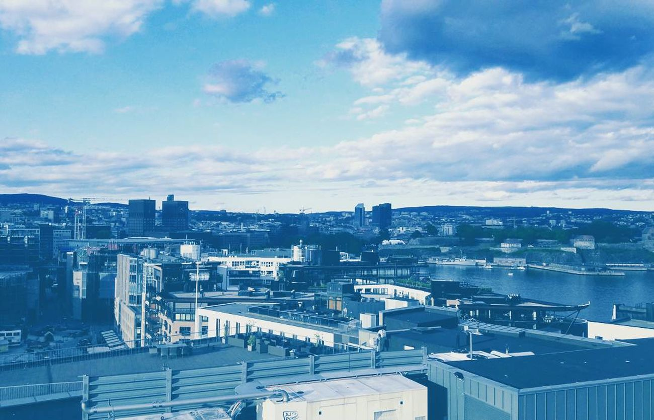 Oslo, Norway Oslo View Cityscape Urban Skyline High Angle View Aerial View City Life View From The Top Cityexplorer Destination This Week On Eyeem Architecture Blue Color Blue Hour