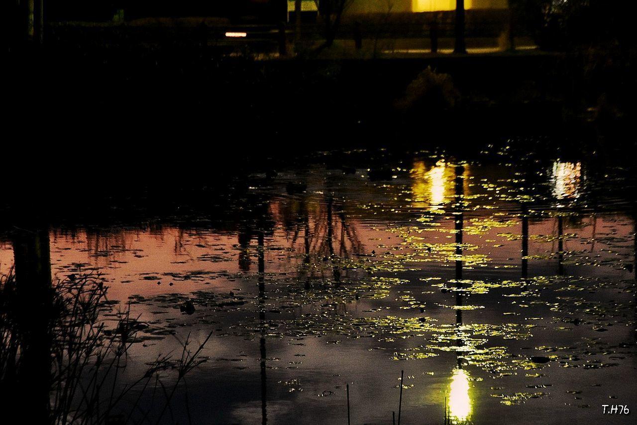 물 호수 노을 반사 햇빛 일본여행 시간 Day
