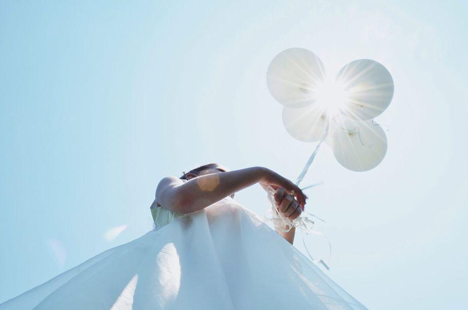 Beautiful stock photos of heaven, Balloon, Childhood, Day, Dress