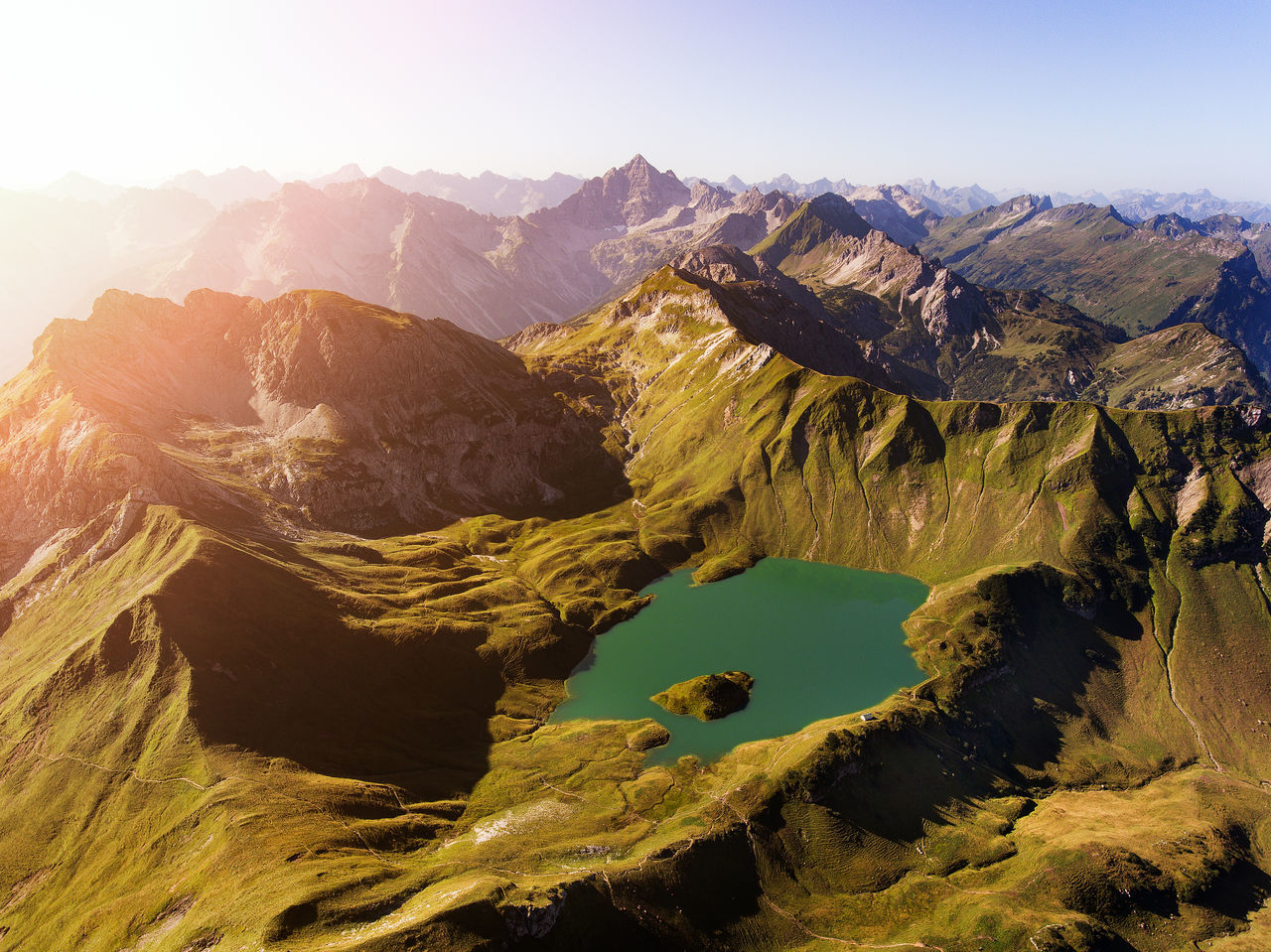 "Drone photo of the beautiful ""Schrecksee"" in Bayern, Germany. Allgäu Alpen Bayern Beauty In Nature Berge Bergsee Drone  Drone Landscape Drone Lanscape Dronephotography Droneshot Germany Hiking Lake Lake View Landscape Mountain Mountain Range Nature No People Schrecksee Sky Sunrise Sunset"