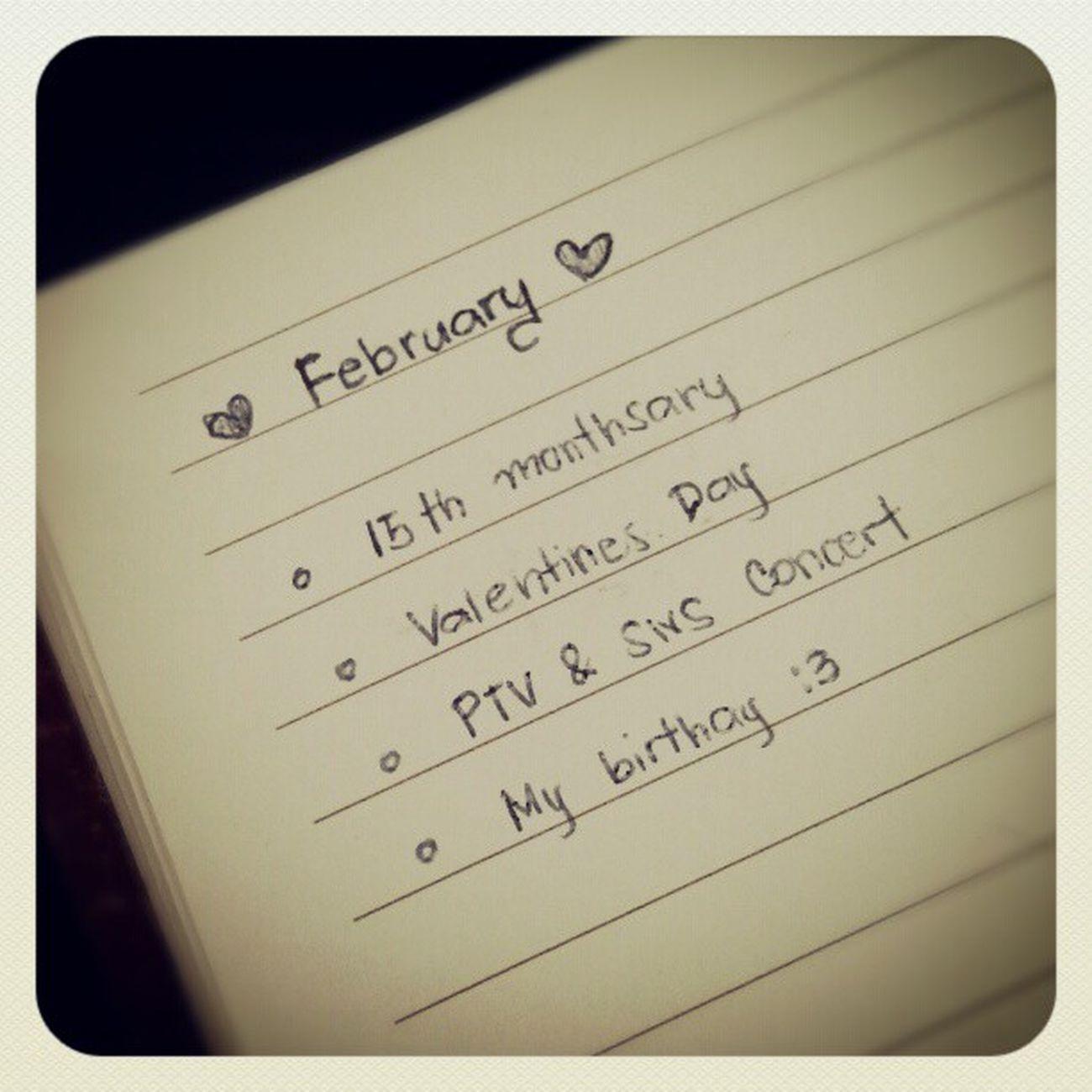 Happenings this February :3 Happyfebruary Piercetheveil Sleepingwithsirens Monthsary atwork
