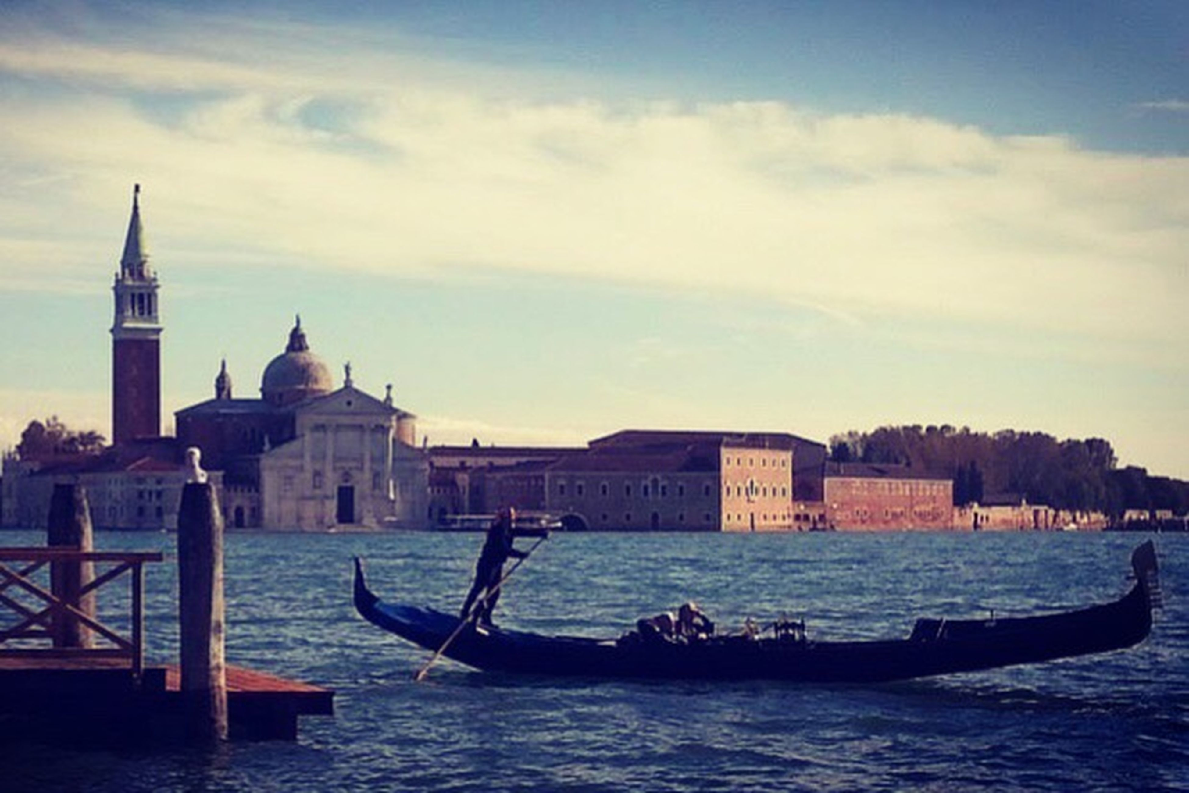 cultures, gondola - traditional boat, travel destinations, nautical vessel, place of worship, sky, architecture, gondolier, outdoors, sculpture, people, day