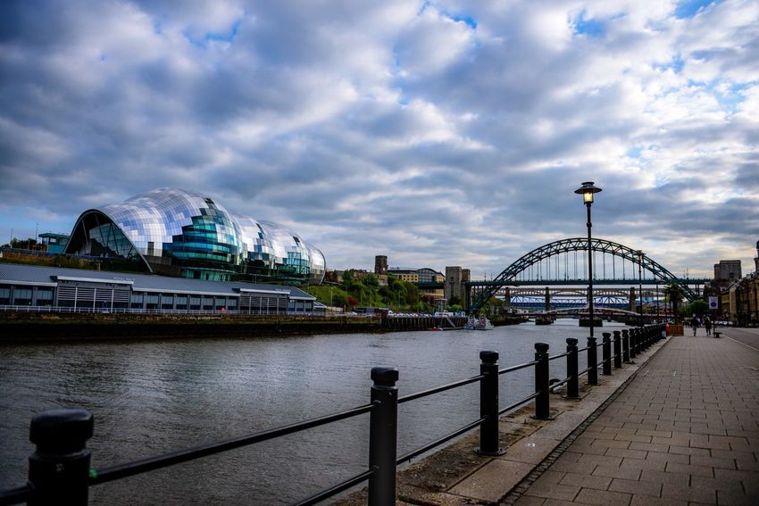 Tyne Bridge Thesage River Tyne Newcastle Upon Tyne Newcastle Cityscapes River Architecture Bridge EyeEm Best Shots City Cityscape Composition EyeEm Gallery Eye4photography  EyeEmBestPics Architecture_collection Clouds And Sky Clouds Tyneside Gateshead Quayside
