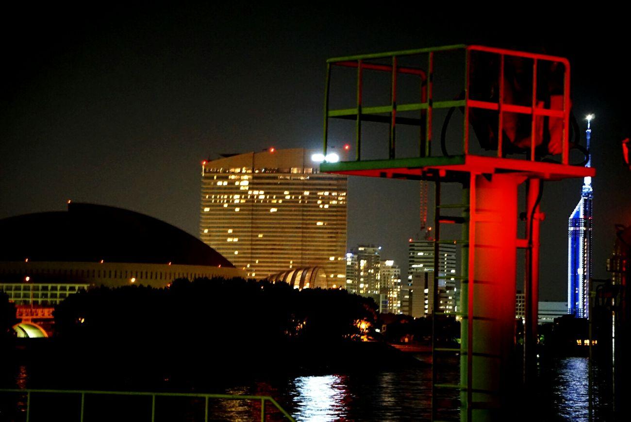 Fukuoka,Japan Fukuoka City  Fukuoka Tower Fukuokatower Hilton Hotel Yafuokudome Night Nightphotography Night Lights Night View