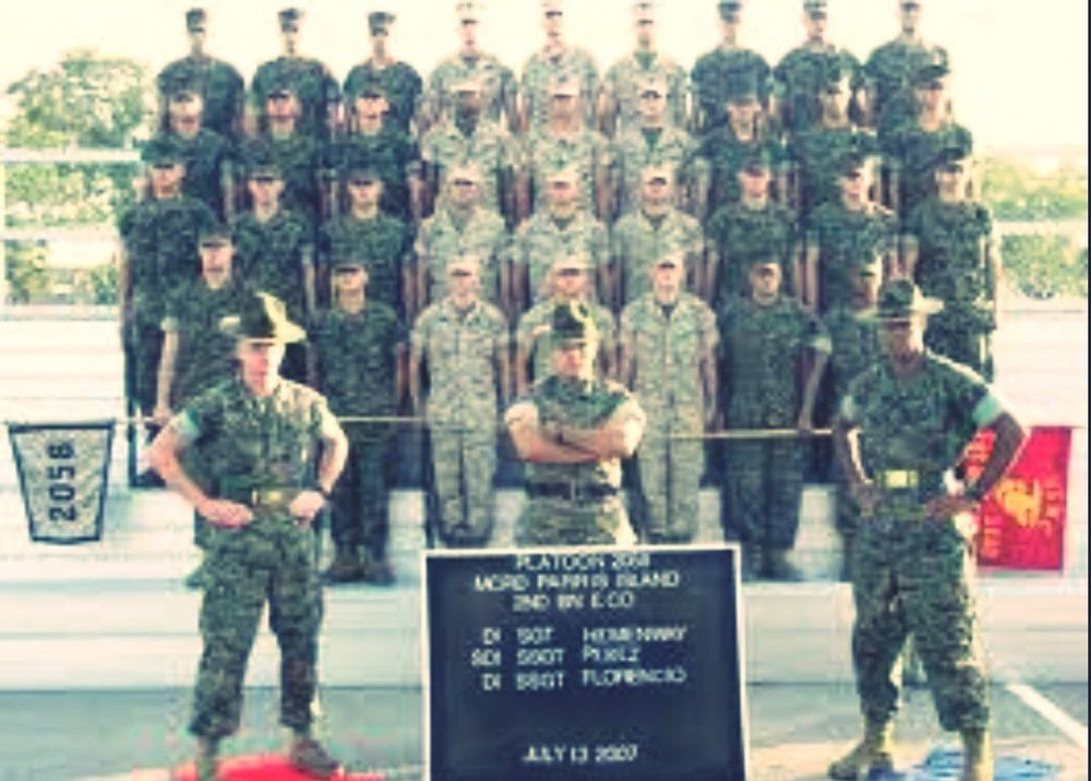 U.S. marine after recruit training USA Us Military USMC Parris Island