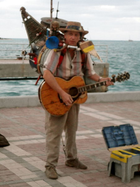 Street Performer n Key West Duval Street Guitar Key West Mallory Square Multi-instrumentalist Music Musician Street Performer