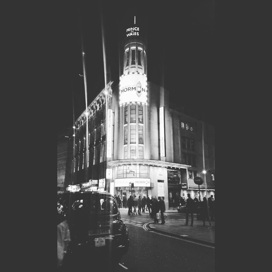 Prince Of Wales Theatre Theatre Piccadilly Circus Leicester Square Blackandwhite London