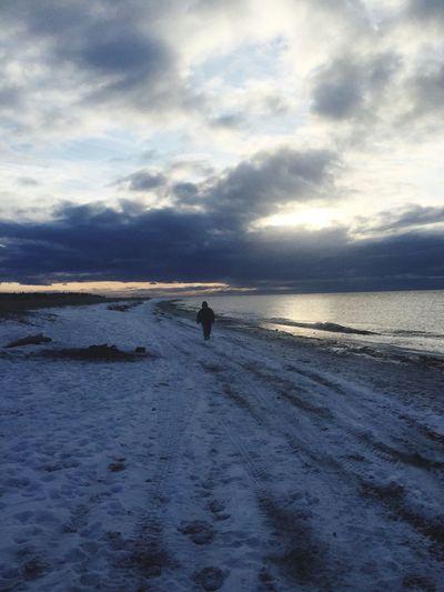 Winter Alaska Sunset Beach Outdoors Snow