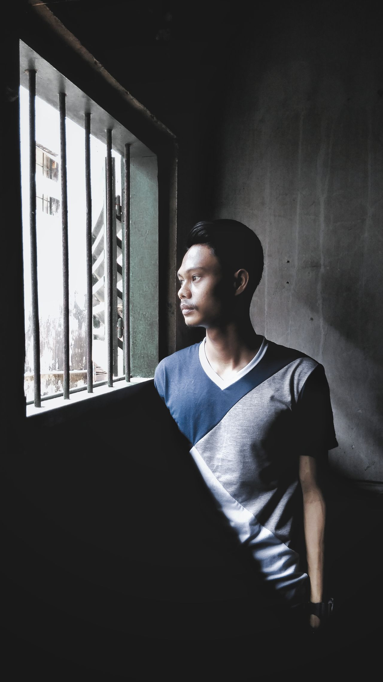One Person Window People Lifestyles TCPM First Eyeem Photo Looking At Camera Hellhouse Day Folk Folkindonesia Alone Portrait Livefolks Alonetime Livefolkindonesia