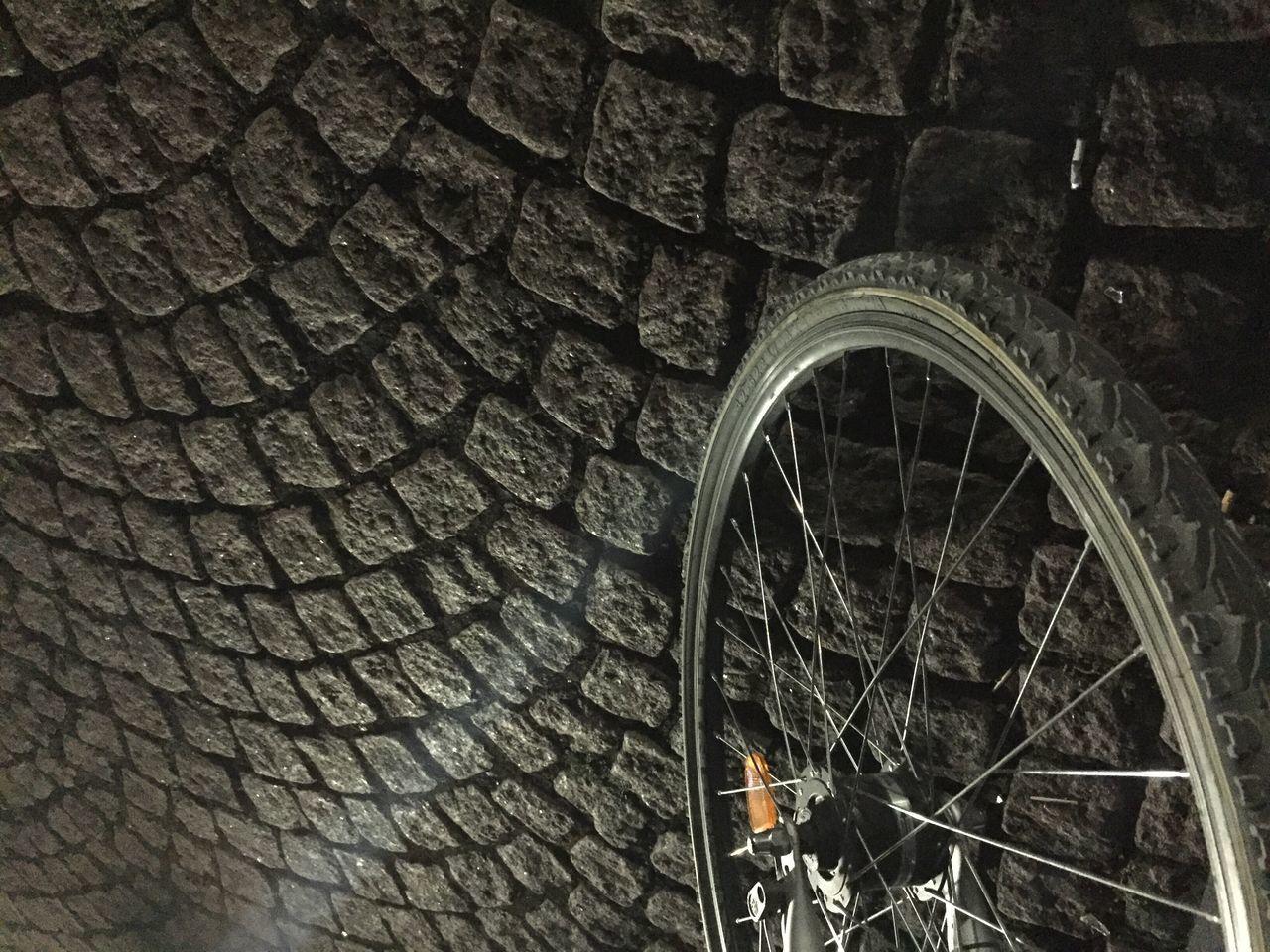 Bicycle Stone Outdoors Mobilephotography Outdoor Photography Bike Wheel Shadow Beam Night Nightphotography KopfSteinPflaster