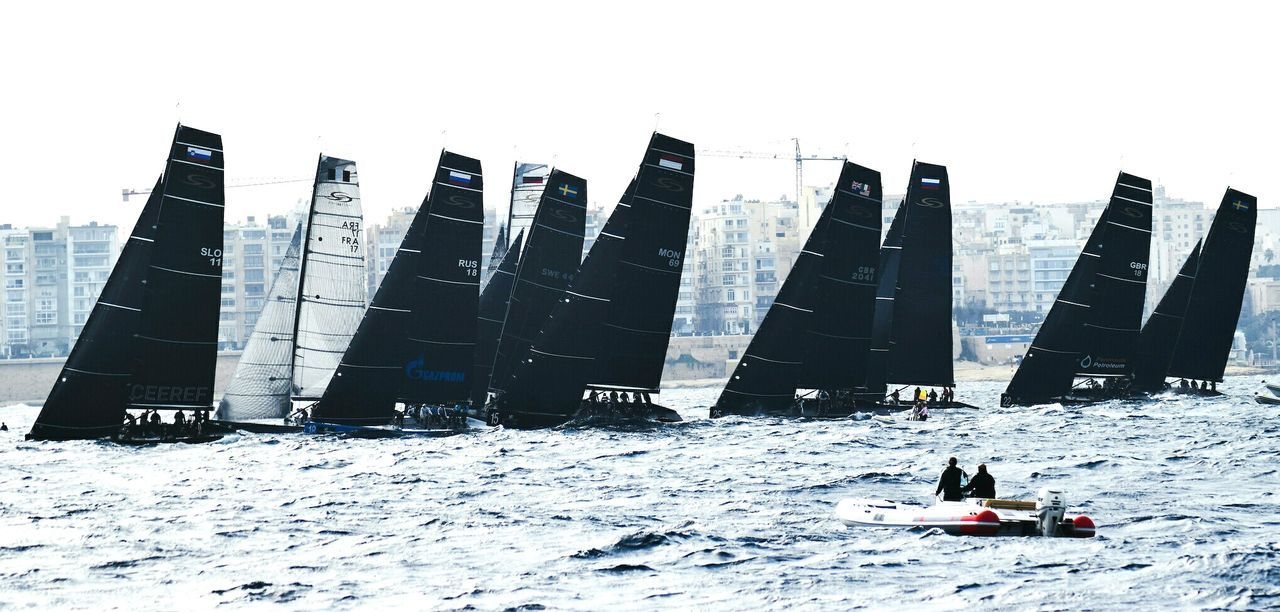 Outdoors Day Sea Scenics Water Mediterranean Sea Yacht Yachts RC44 Valletta Maltaphotography Sailing Sailboat Race Racing Yachtracing Regatta